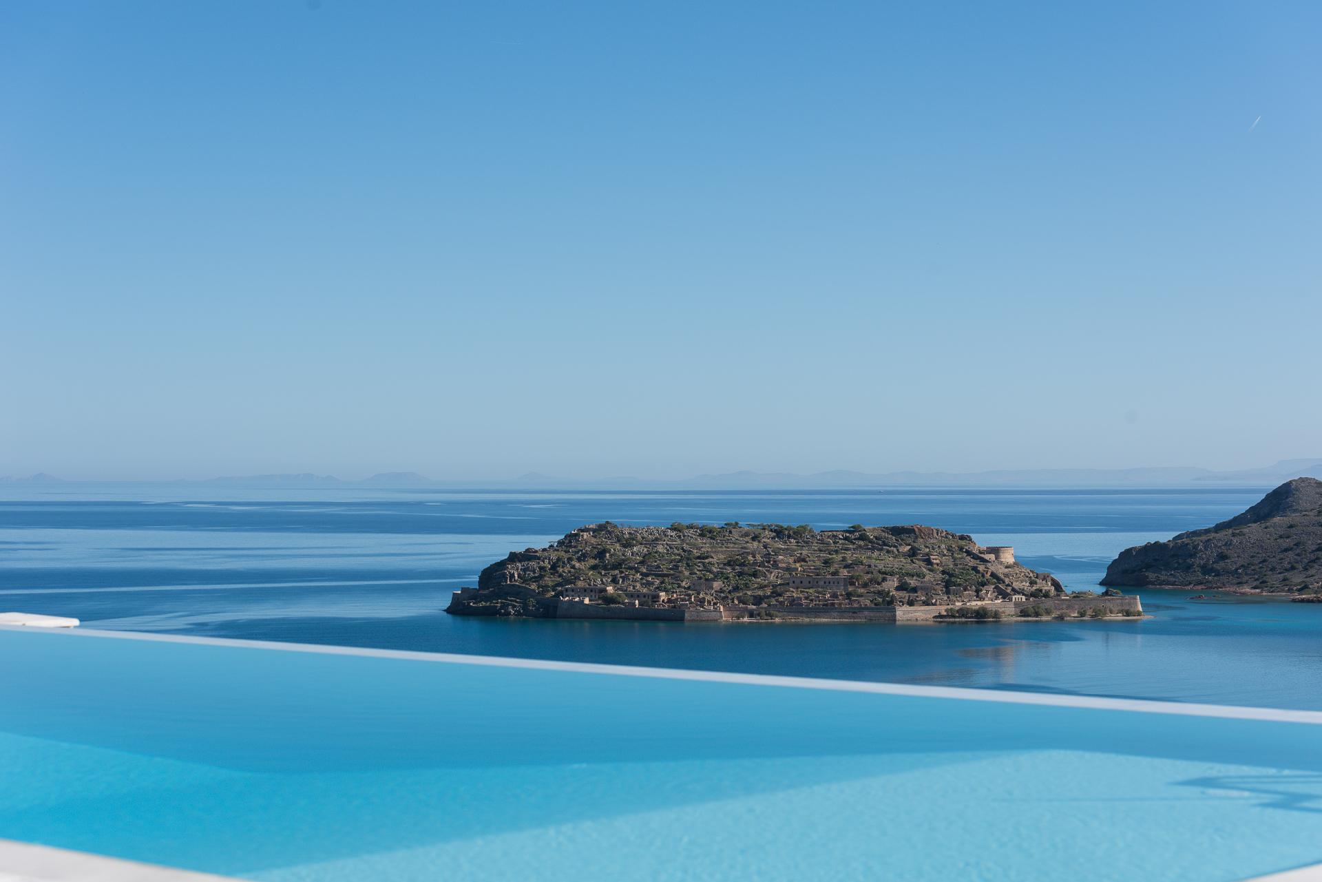 Spinalonga islan pool view